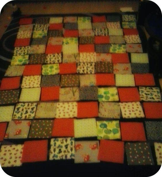 Lapjesdeken quilt in wording