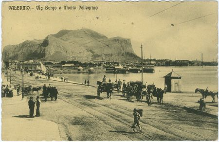 Palermo, Via Borgo e Monte Pellegrino