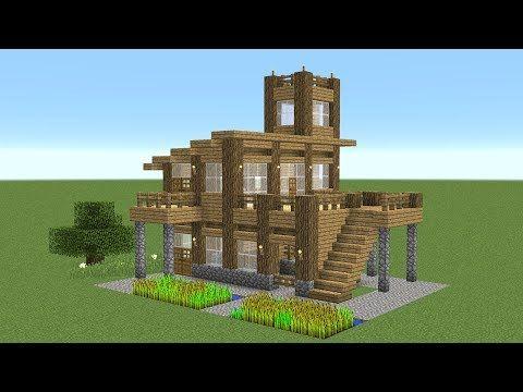 Minecraft Starter House Design Rumah Joglo Limasan Work