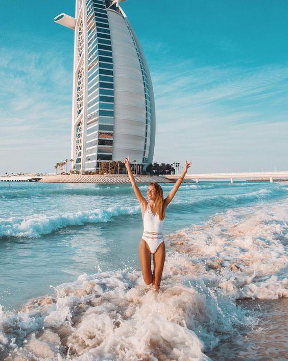 "Tatiana Vasilieva on Instagram: ""From @burjalarab to @jumeirahalnaseem with the best beach in Dubai 🔥🔥🔥 Вот он, самый прекрасный пляж в Дубае! И конечно же он расположен в…"""