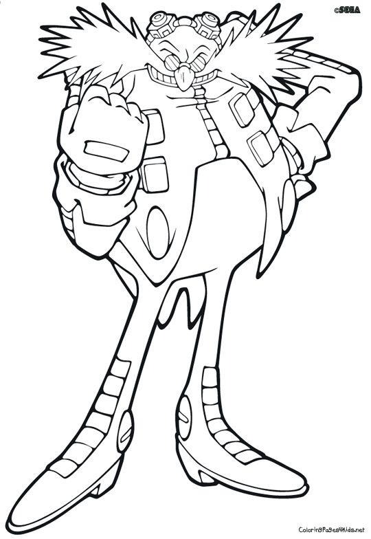 Dr Eggman Coloring Pages Coloring Pages Super Coloring Pages Hedgehog Craft