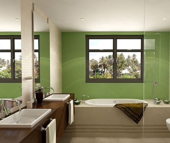 Green Paint Bathroom