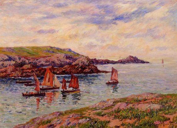 Porspodor, Finistère (2), huile sur toile de Henri Moret (1856-1913, France)