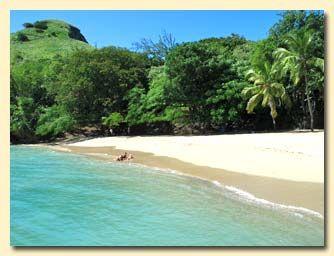 Blue Eden, St Lucia: Deserted beach at Pigeon Island