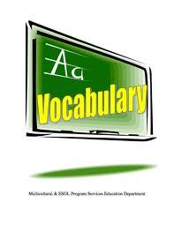 Academic Vocabulary-  Math lists by grade level