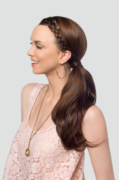 braid with a low pony tail....love this!!