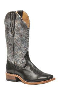 Silver Square Toe Boots