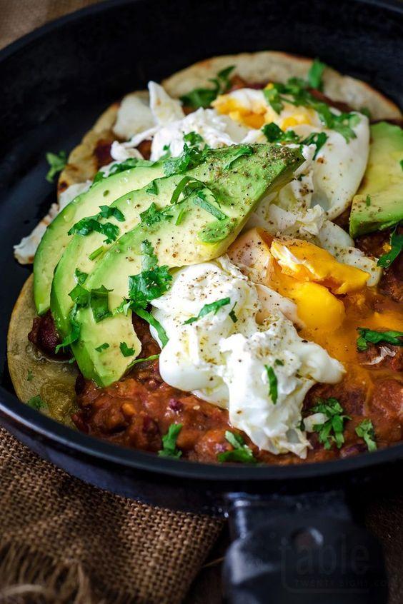 huevos rancheros with frijoles refritos | table twenty eight