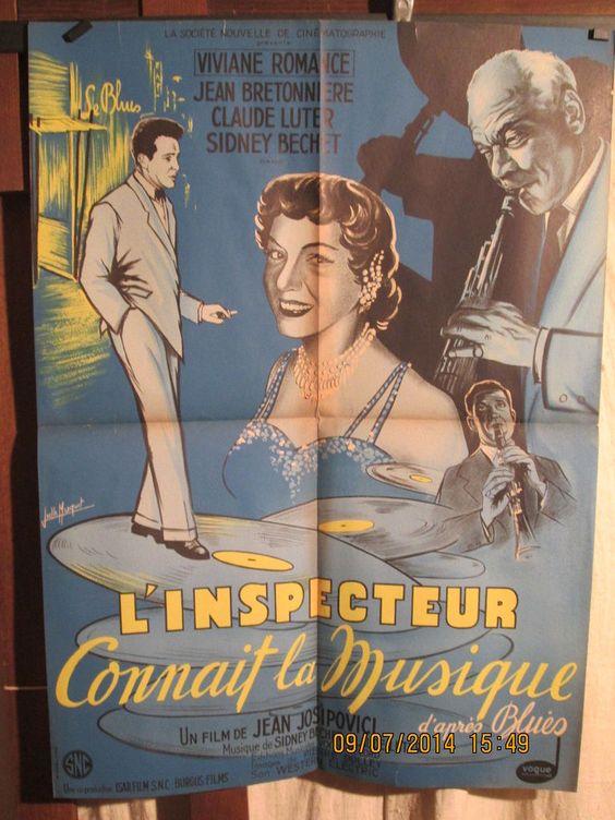 """SIDNEY BECHET:""""L'INSPECTEUR CONNAIT LA MUSIQUE"""" C'est un super nanar des années 50 mais on y voit et on y entend le grand Sidney Bechet au mieux de sa forme."""