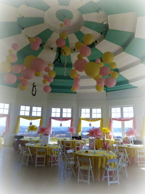 Baby Shower Decorations Pink And Yellow ~ Pink and yellow vintage circus baby shower