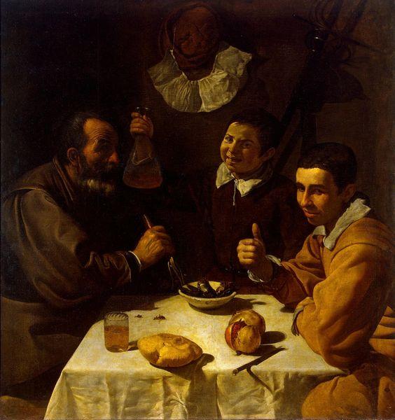 Diego Velázquez, El Almuerzo, 1617.: