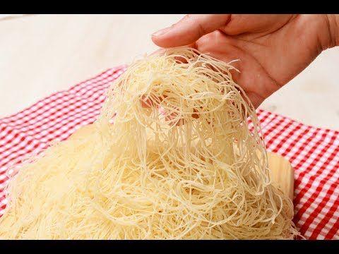 طريقة تحضير عجينة الكنافة في المنزل إقتصااادية ناجحة 100 100 مثل الجاهزة تمااااما Youtube Coconut Flakes Food Spices