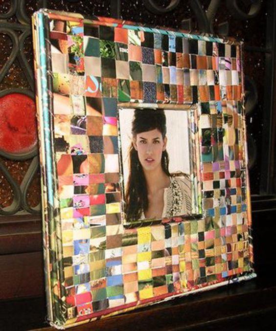 de manualidades creativas realizadas mediante el reciclado de papel