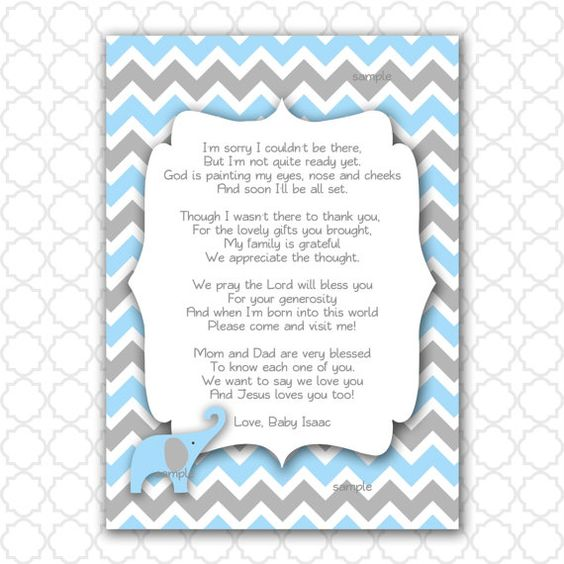 showers boy elephant baby showers lennox shower poem notes baby shower