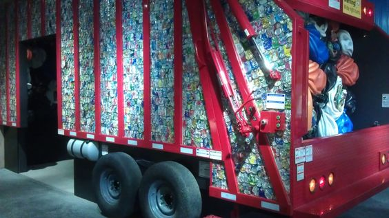 Real recycling truck #SpringsPreserve