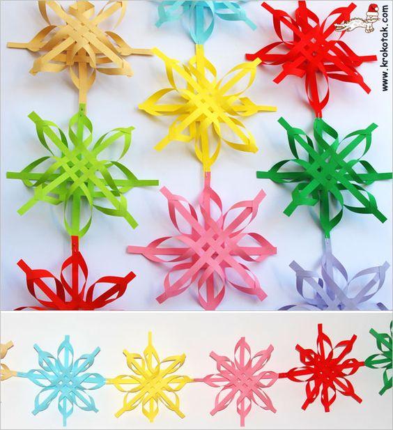 Colored Christmas snowflakes