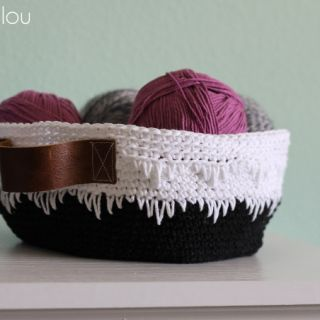 Geometric Crochet Basket  Pattern