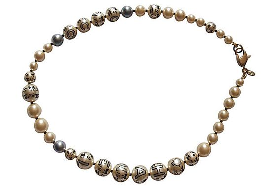 Hand-Painted Chanel Necklace on OneKingsLane.com