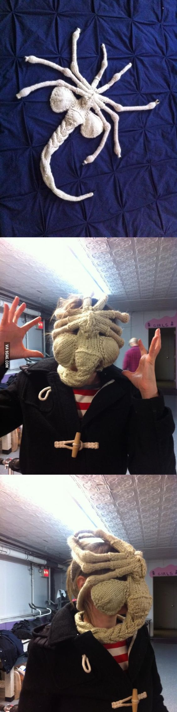knit an Alien facehugger. Its an abomination. Aliens and Knits