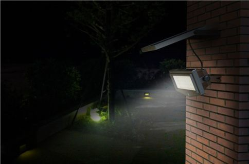 Solar Powered Led Flood Light Sml 01t 1000 Lumen With Pir Sensor And Remote Includes Remote 3 5m Solar Panel Rem Flood Lights Outdoor Solar Lights Solar Lights