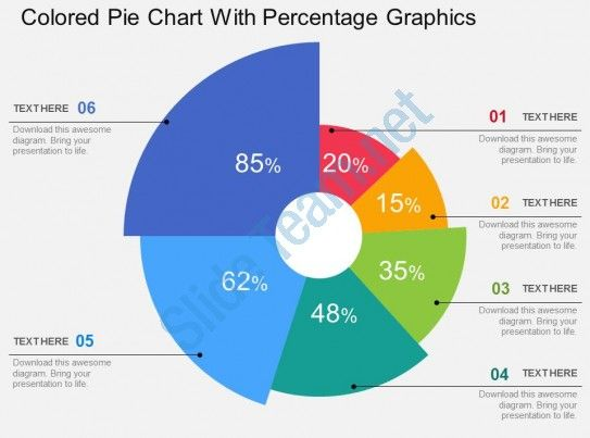 Colored Pie Chart With Percentage Graphics Flat Powerpoint Design Slide01 Pie Chart Powerpoint Design Powerpoint