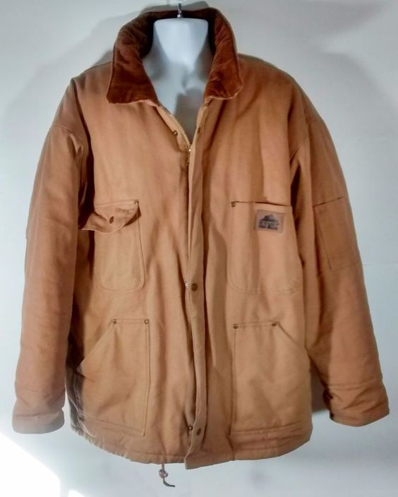 Mens Old Mill Chore Work Hooded Coat XL Brown Tough Thinsulate