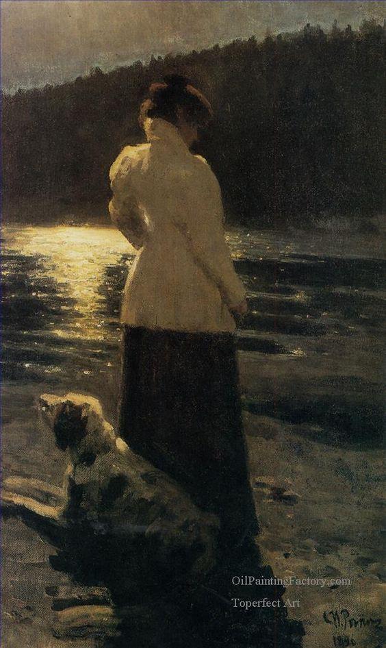 Ilya Repin (Russian, 1844 - 1930) - Moonlight night, 1896