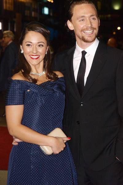 British actor Tom Hiddleston and his girlfriend actress ...