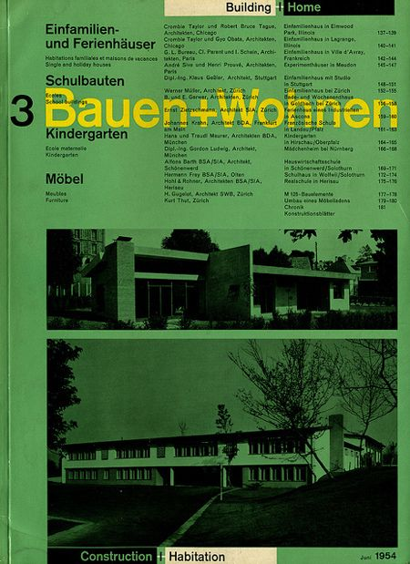 bauehn wohnen magazine richard paul lohse 1954. Black Bedroom Furniture Sets. Home Design Ideas