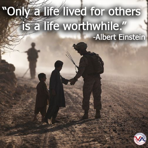 Quotes To Live For Others: Members Of Our Military Live Their Lives For Others. Some