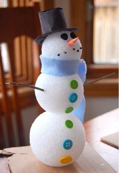 Super Easy DIY Christmas Decor Ideas   Well Dressed Snowman   Click Pic For  25 Christmas