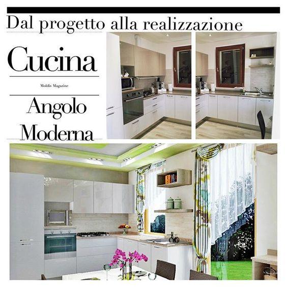 Dal progetto alla realizzazione : cucina ad angolo moderna