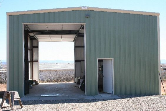 Metal shop shed kits and storage buildings on pinterest for Building a prefab shed