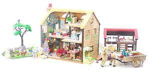 *fistuff* Sylvanian Families Decorated Highfields Farm House, Barn + HUGE LOT!  | eBay