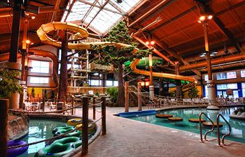 The Timber Ridge Lodge and Waterpark is a luxurious resort fit for the entire family. Proud to be the sole all-suite and all-season vacation destination in the Midwest, you can enjoy countless activities throughout your stay. Rooms from $149.00 per night!