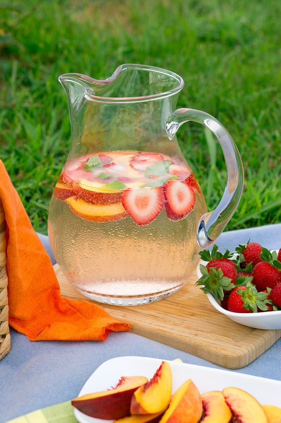 Fruit Infused Sparkling Water - Strawberries, peaches and fruit ...