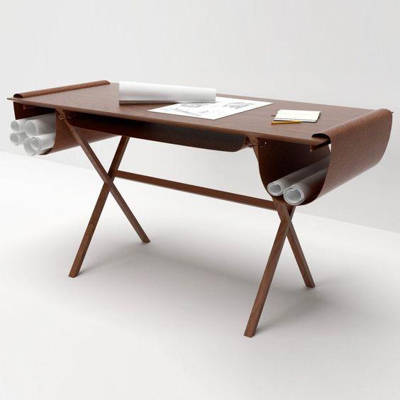 Oscar desk by Giorgio Bonaguro http://www.woodz.co/oscar-desk-by-giorgio-bonaguro/