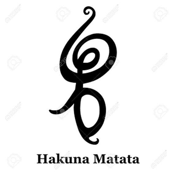 Hakuna Matata Symbols And No Worries On Pinterest