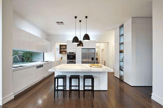 La cuisine design blanche 50 idées de déco moderne Cocina, Deco y