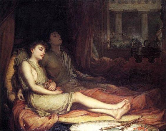 """""""Sueño y su hermanastro Muerte"""", J. W. Waterhouse"""
