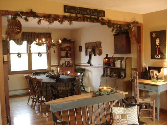 Primitive home decorating ideas welcome to our colonial for Welcome home decoration ideas