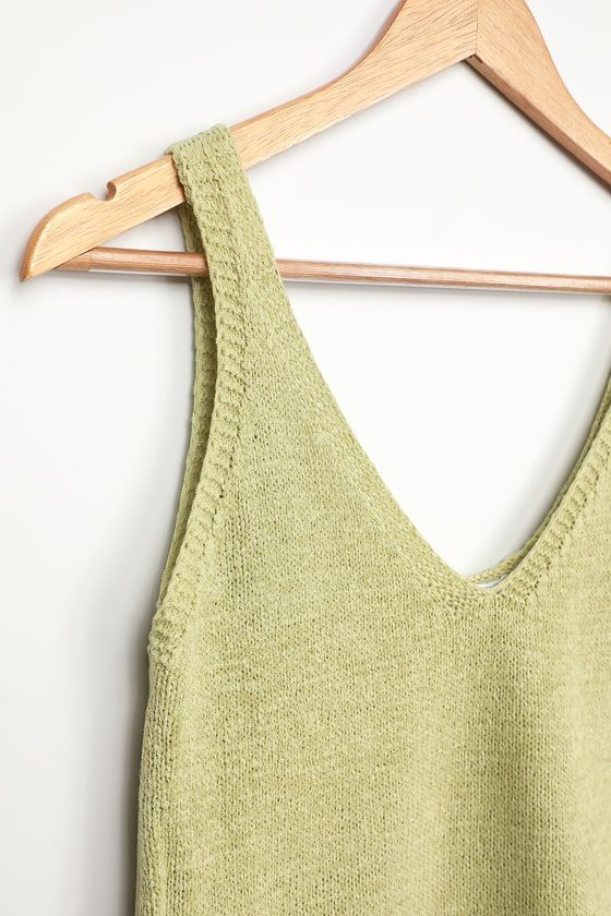 Tribal Tank in Sage with Lace Up Back Detail