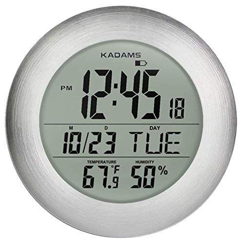 Kadams Digital Bathroom Shower Clock Waterproof For Water Spray With Seconds Counter Temperature Humidity Temperature And Humidity Clock Bathroom Shower