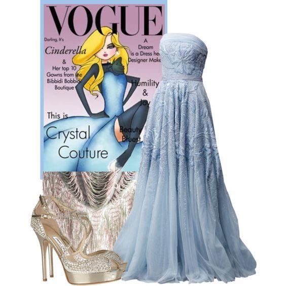"""""""Disney Vogue: Cinderella"""" by stellastar on Polyvore"""