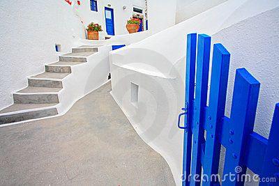 Traditioneel Grieks huis op eiland Santorini