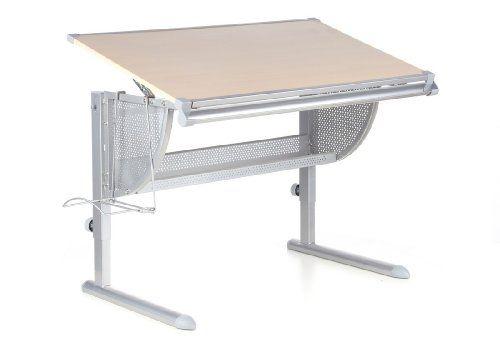 Hjh OFFICE 705100 Kinderschreibtisch NENOS Buche Silber, Höhen   Und  Neigbare Tischplatte,mitwachsend Ideal · Schreibtisch BucheKinder ...