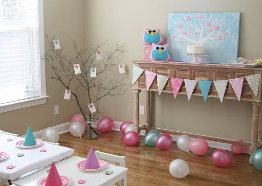 adorable owl party with beautiful decor!