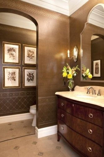 Pinterest the world s catalog of ideas for Brown paint for bathroom