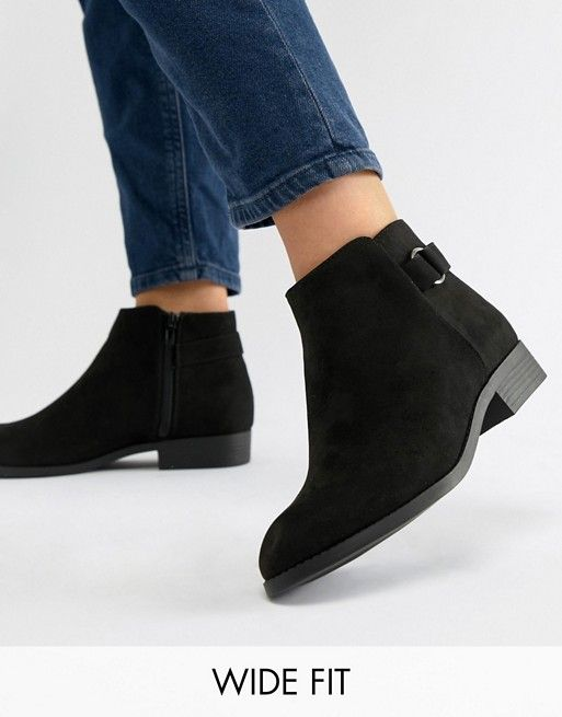 Boots, Ankle boots flat, Wide fit shoes