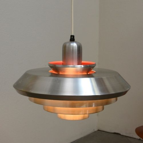 1960s danish modern ufo hanging lamp fixture mid century for Danish modern light fixtures